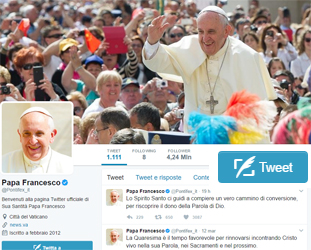 I tweet di Papa Francesco